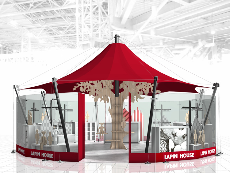 Lapin House carousel retail design