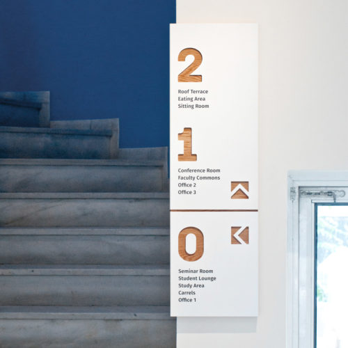 Simpl. / Signage and environmental branding for Princeton's Athens Center