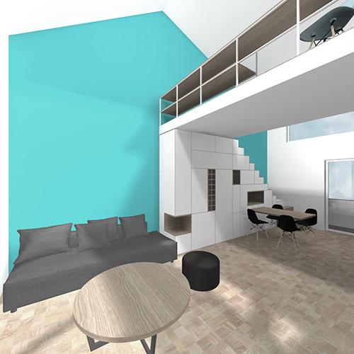 cyan apartment